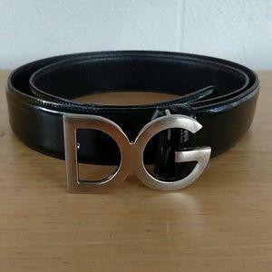 Dolce & Gabbana Patent Leather DG Logo Belt